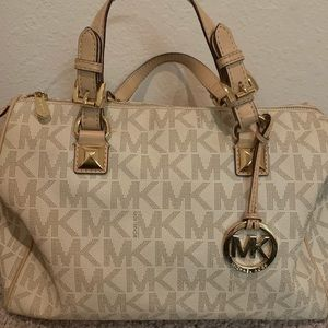 White Signature Michael Kors Handbag